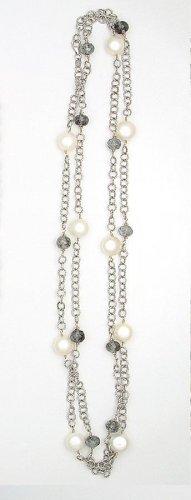 Pod Pearl & Black Aqua Necklace