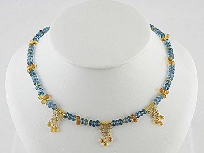 London Amythest & Blue Topaz Necklace
