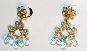 Blue Topaz Briolette Earrings