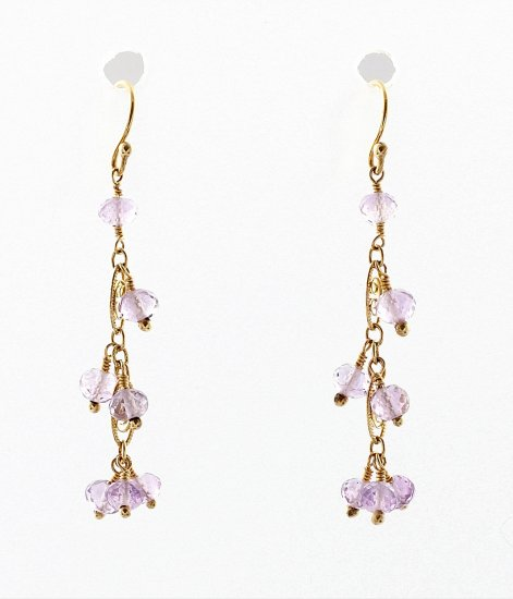 Amythest Chandelier Earrings