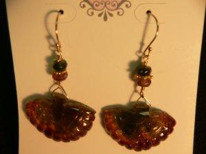 Tourmaline Fan Drop Earrings