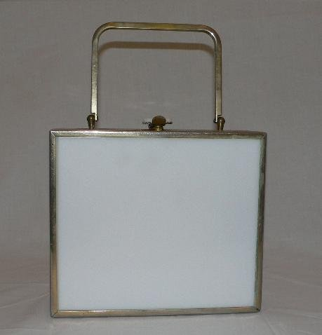 White Lucite Box Bag