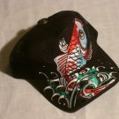 "ED HARDY KOI FISH TRUCKER HAT ""BLACK"""