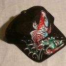 "ED HARDY KOI FISH TRUCKER HAT ""BLACK"""