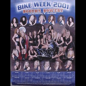 Bike Week 2001 Booths Bowery Poster
