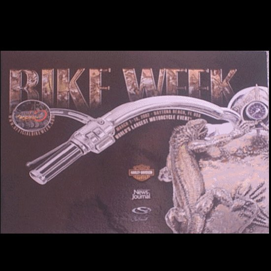 Bike Week Daytona Beach Official 2002 Poster