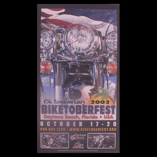 Biketoberfest 2002 Daytona Beach Official Poster
