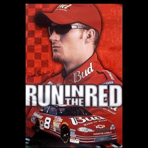 Dale Jr Run in the Red Poster