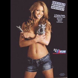 V-Twin Gorgeous Gal Motorcycle Biker Posters