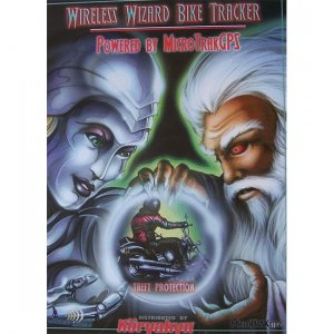 Wireless Wizard Biker Poster