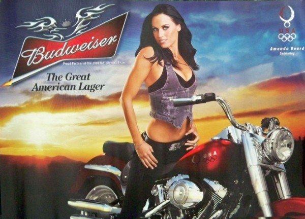 Bike Week Motorcycle Bud Poster featuring Amanda Beard