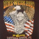Collectible Bike Week T Shirt 2001 Black Medium FREE SHIP