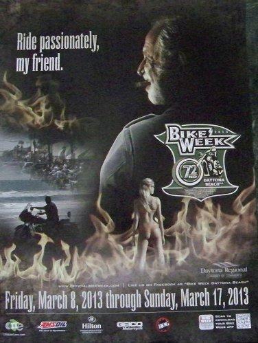 Bike Week 2013 Daytona Beach Official Motorcycle Biker Posters