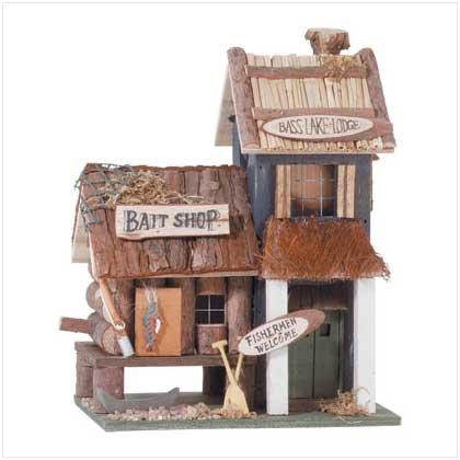 WOOD BAIT SHOP BIRDHOUSE - Code: 31245