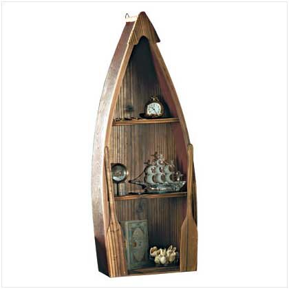 WOOD ROW BOAT WALL SHELF - Code: 31182