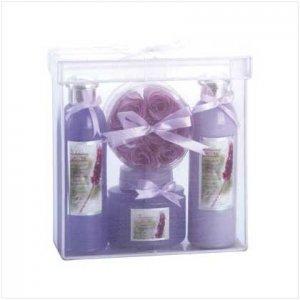 Bath Set In Organza Basket - Code: 35036