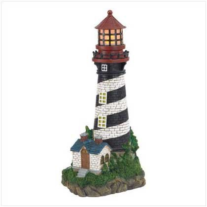 Lighthouse with Solar Lamp - Code: 35719