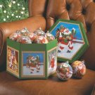 Santa Ball Ornaments - 1 Dz - Code: 35764