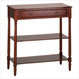 Wood Console/Drawer & Shelves - Code: 35039