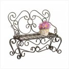 METAL RUSTIC PLANTER/BENCH - Code: 33212