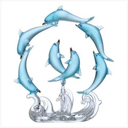 ROTATING BLUE DOLPHINS CIRCLE - Code: 33939