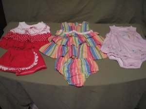 Infant Girls summer outfits! 3 Complete Gently Used Outfits!!