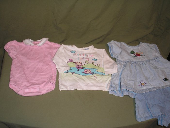 Baby Gap and Cherokee Infant Girl Clothing