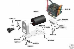 1/5 Nitro RC Electric Brushless Motor 1425KV Fit KM HPI