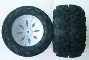 1/5 RC FS Racing Rampage Monster Truck Tire/Rim Set 2pc