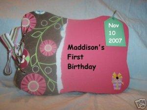 Girls Birthday Memory Books