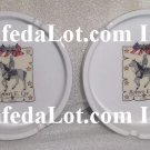 Confederate Ashtray Set Robert E Lee Fine Porcelain Gold Trim Ashtray Set