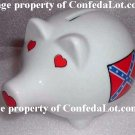 Confederate Piggy Bank Fine Porcelain Piggy Bank NEW