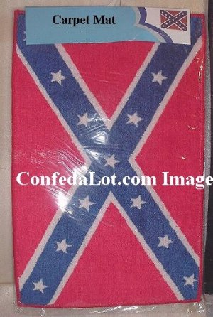 Confederate Carpet Mat Area Rug 22in x 39in NEW FULL FLAG CARPET MAT