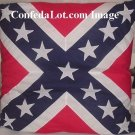 Confederate Battle Flag Pillow  The Big Jumbo 24 in x 24 in NEW Thick n Plush