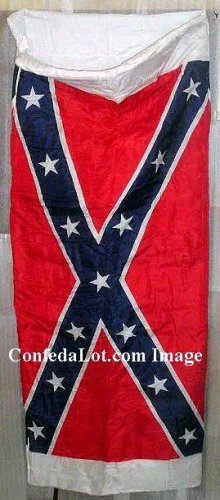 Confederate Flag Zippered Sleeping Bag - Thick n Plush NEW