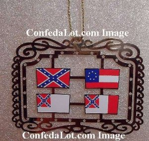 WHOLESALE 50 Brass Confederate Flags of Confederacy Dangling Ornaments NEW