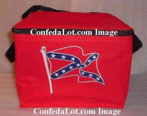 Confederate Bright Red Insulated Cooler Carryall great for Beer Beverages Lunch Snacks and more NEW