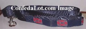 Confederate Leash for Dog or Cat strong non pop Nylon Webbing NEW