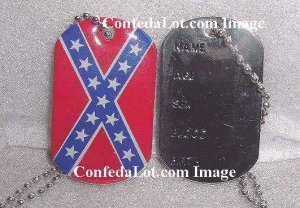 Confederate ID Tag Engravable ID Tag Necklace NEW