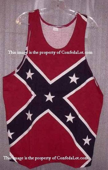 Confederate Full Flag Tank Top Muscle Shirt NEW Sizes S M L XL