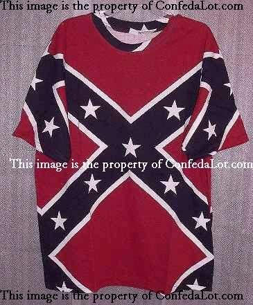 Confederate Full Flag Tee Shirt NEW Size S M L XL and 2XL