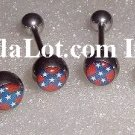 50 Confederate BarbeLL Body Jewelry Surgical Grade Stainless Steel NEW