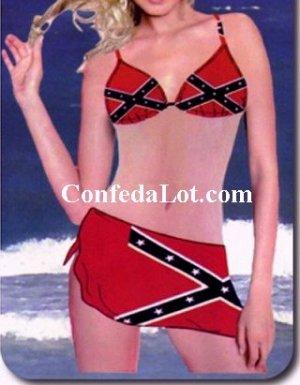 Confederate Bikini Set with Wrap NEW