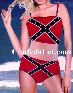 Confederate Tube Top Bikini Set with Full Support NEW