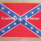 Huge 8 inch x 11 inch Confederate Flag Embroidered Patch with Gold Trim NEW Iron on or Sew on