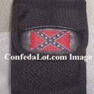 Confederate Flag Zippered Multi-Purpose Pouch  w/ Velcro Flap Zipper Rear strap Neck chain NEW