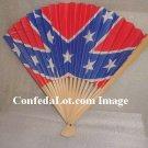 Confederate Flag Classic Hand Fan NEW
