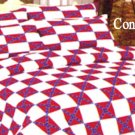 Confederate TWIN Size WHITE/RED Sheet Set NEW