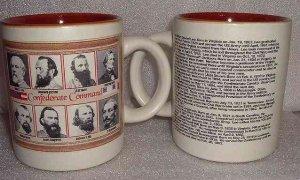 Civil War Confederate Commanders Mug Heavy Thick High End Quality Porcelain NEW