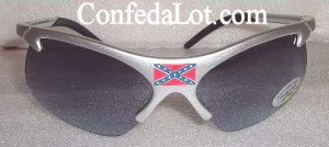 Confederate Sunglasses with Center Flag Pearlized with UV Rays Protection NEW